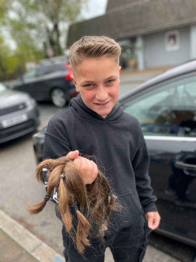 Jayden hair chop