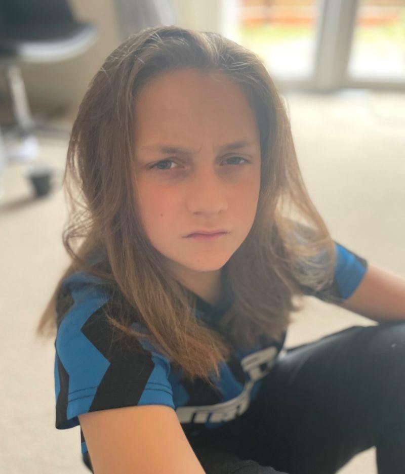 Jayden with long hair